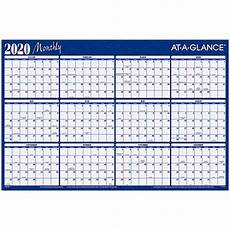 at a glance calendar 2020 2020 monthly a102 20 at a glance dry erase wall calendar