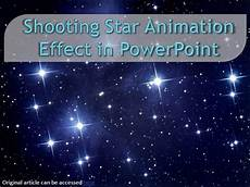 Stars Powerpoint Shooting Star Animation Effect In Powerpoint Authorstream