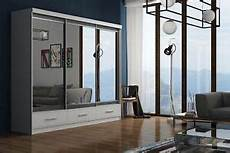 bedroom furniture mirror modern sliding door wardrobe