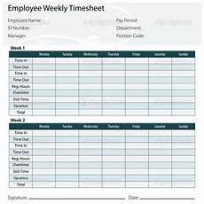 2 Week Time Card Calculator Free Printable Timesheet Templates Timesheet Template
