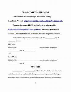 Cohabitation Agreement Sample Sample Cohabitation Agreement