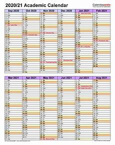 Academic Calendar Template 2020 17 Excel Academic Calendars 2020 2021 Free Printable Excel Templates