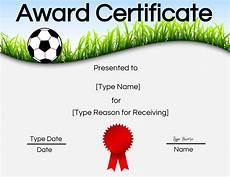 Soccer Certificate Templates For Word Free Soccer Certificate Maker Edit Online And Print At Home