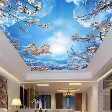 custom wall mural painting blue sky white clouds