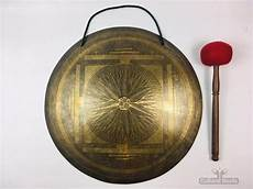 Gong Design 19 1 2 Quot Sacral Beautiful Nepalese Lotus Flower Carved