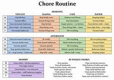 House Chores Schedule Joyous Lessons This Year S Paper Plans Schedules