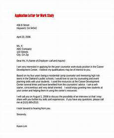 Work Letter 21 Sample Work Application Letters Free Amp Premium Templates