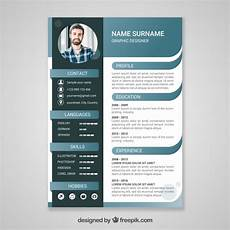 Free Curriculum Template Free Vector Curriculum Template With Flat Design