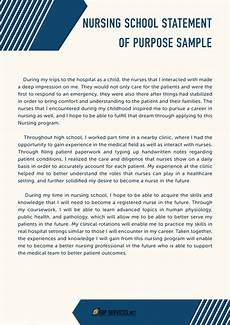 Statement Of Purpose For Grad School Examples Writing Nursing School Statement Of Purpose Sop Samples
