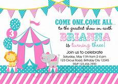 Carnival Theme Party Invitations Templates Cool Free Template Circus Themed Birthday Party