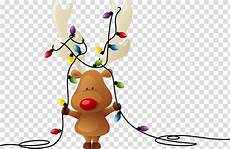 Santa Claus Reindeer Lights Moose Holding String Lights Rudolph Reindeer Santa Claus