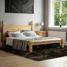 corona 5ft king size bed low foot end mexican solid pine