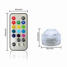 Battery Operated Led Lights With Remote Remote Control Lamp 12pcs Rgb Color Small Battery Operated