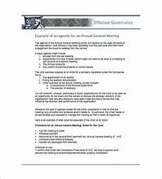Business Agenda Format 8 Business Agenda Templates Free Sample Example