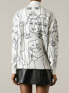 stella mccartney embroidered faces sweatshirt mode 224