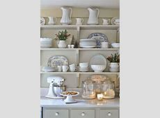 White dinnerware with blue and white platters with a