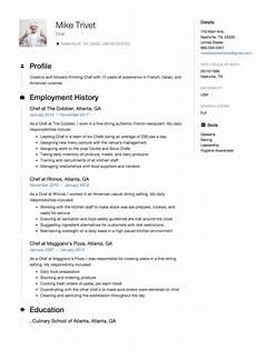 Free Chef Cv Template Chef Resume Amp Writing Guide 12 Templates Free
