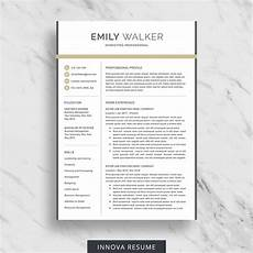 Modern Professional Resume Template Modern Resume Template Innova Resume