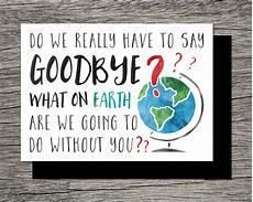 Free Printable Farewell Card For Colleague Printable Farewell Goodbye Card What On Earth Are We Going