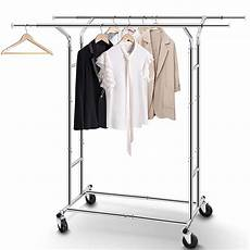 hanging clothes rack on wheels clearance heavy duty rail clothes rack with wheels