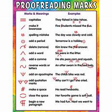 Paper Proofread Proofreading Marks Chart Tcr7696 Teacher Created Resources