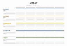 Teaching Planning Template Weekly Lesson Plan Template