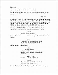Sample Screenplay Screenwriting Page Numbering A Screenplay Creative