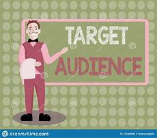 Another Word For Target Audience Handwriting Text Writing Target Audience Concept Meaning