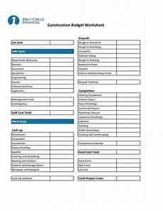Home Construction Budget Template Home Construction Budget Worksheet Templates At