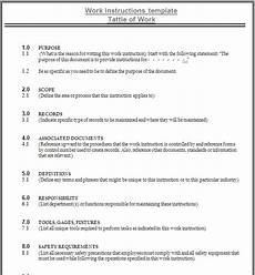 Work Instruction Form Work Instruction Template Template Business