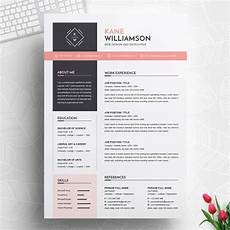Professional Resume Word Template Professional Resume Template Ms Word Cv Design Template