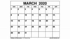2020 Calendar Pdf Free Printable March 2020 Calendar Wiki Calendar Com