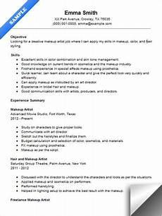 Sample Makeup Artist Resume Makeup Artist Resume Sample Artist Resume Makeup Artist