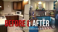 before after kitchen renovations 1k