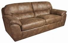 casual faux leather plush sofa by corinthian wolf and