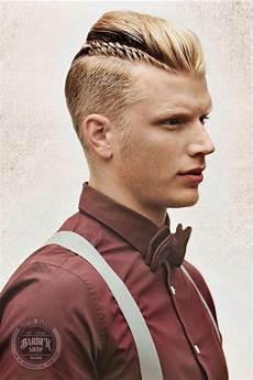 männer frisuren zopf undercut undercut im viking stil mit kleinem zopf an der seite