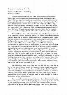 English Essay Book English Essay Horror Movie 1 Docx
