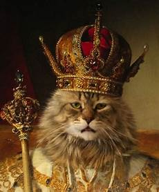 11 cats in crowns wishing the a happy birthday