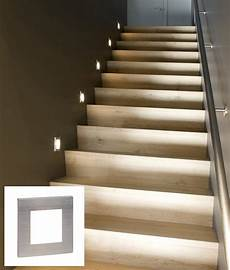 Led Lights For Stairs Easy To Install Low Level Recessed Marker Lights Ideal