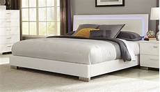 felicity white king platform bed from coaster 203500ke