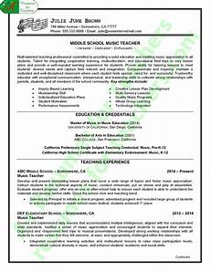 Music Teacher Resume Sample Music Teacher Resume Sample