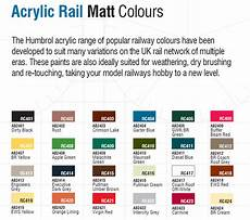 Rail Color Chart Humbrol Rail Colour Acrylic Rc407 Br Yellow Matt 14ml