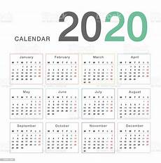 2020 Business Calendar Calendar Year 2020 Vector Design Template Simple And Clean