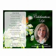 Memorial Pamphlet Template Free Butterfly Memorial Program