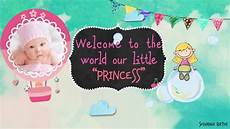 Welcome Baby Girl Welcome Baby Girl Version After Effects Template Youtube