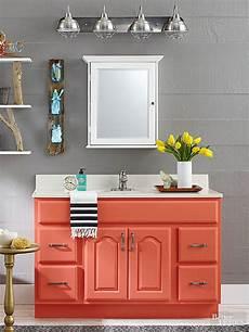 painted bathroom vanity ideas remodelaholic 25 inspiring and colorful bathroom vanities