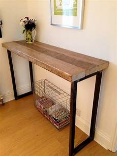 industrial mill reclaimed wood breakfast bar console table
