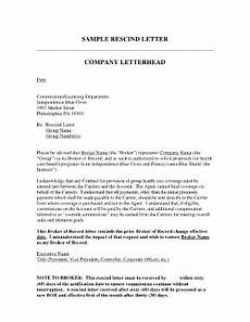 Rescind Letter Sample 26 Printable Sample Corporate Consulting Proposal Forms