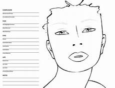 Brown Face Chart Blank Blank Face Chart Templates Charts And Female Face
