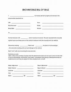 Template For A Bill Of Sale Free Snowmobile Bill Of Sale Form Pdf Docx